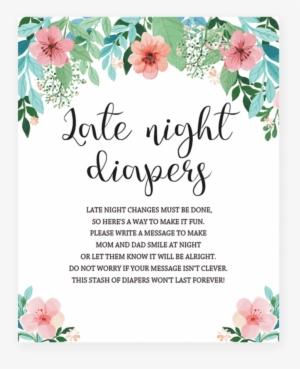 Get Late Night Diapers Free Printable  JPG