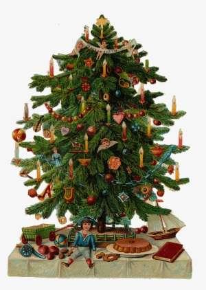 Vintage Christmas Tree Clip Art Fun For Christmas Picture - Vintage  Christmas Tree Transparent Background - Vintage Christmas Tree Clip Art Fun For Christmas Picture - Vintage