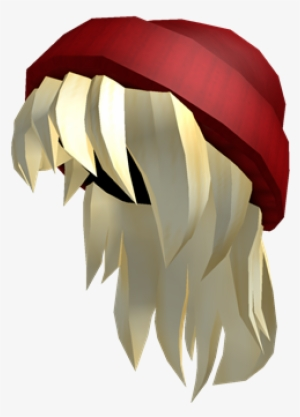 Red Beanie Blonde Hair Hair Codes For Roblox Blonde Png Image