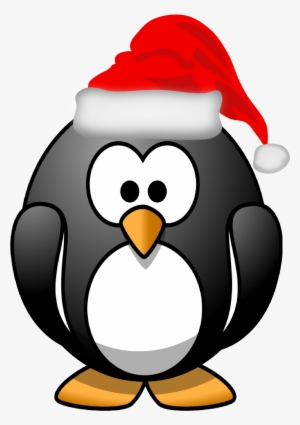 67177b4fdde Santa Hat Png - Cartoon Penguin
