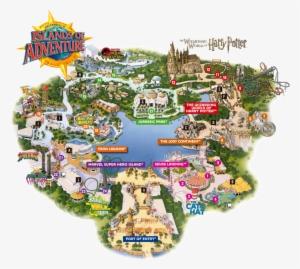 Map Universal Studios Orlando Map Universal Studio Islands Of Adventure Map 2017 Png Image Transparent Png Free Download On Seekpng