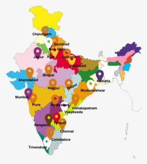 India Map With State Name.India Map India State Name List Png Image Transparent Png Free