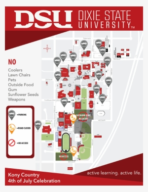 Dixie State University Campus Map Showing Venue Rules Dixie State