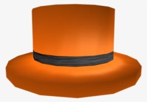 Halloween Top Hat Roblox Black Banded Orange Top Hat Png Image