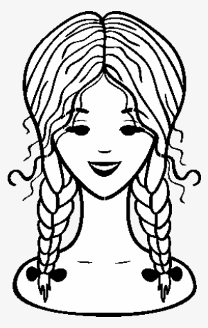 School Girl Coloring Page School Girl For Coloring Png Png Image