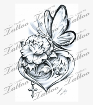 Rose Tattoo Png Images Png Cliparts Free Download On Seekpng