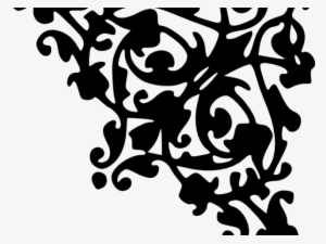 Decorative Line Gold Clipart Corner Corner Designs Black And White