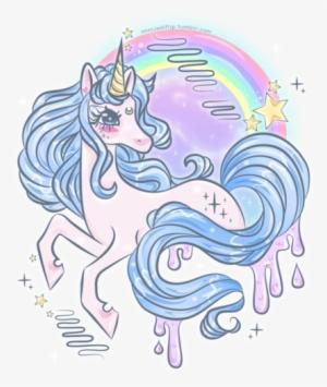 Unicorn Kawaii And Pastel Goth Image Galaxy Unicorn Drawing Png