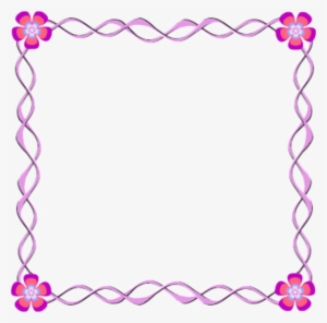 Pink Flower Frames And Borders Png