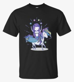 e55c3e6a451 Mermaid Queen Riding Her Unicorn T-shirt - Fist Full Of Dollars T Shirt