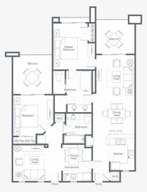 Two Bedroom Lockoff Villa Westin Desert Willow Villa Rooms Png