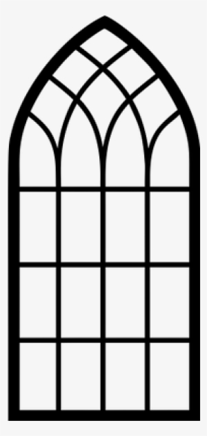 Church Window Arch Window Clipart Silhouette Png Image