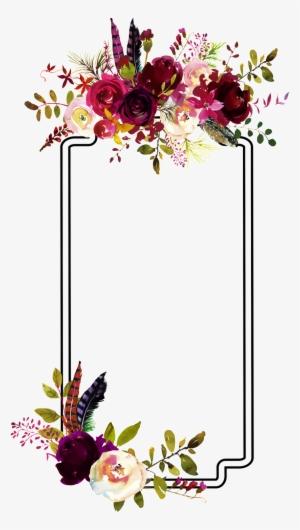 watercolor watercolour flowers flower frame border