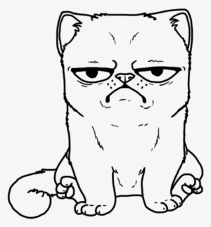 Drawn Grumpy Cat Dog Pencil And In Color Stuning Coloring Coloring Book Page Cat Transparent Png Image Transparent Png Free Download On Seekpng