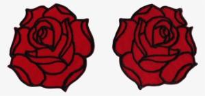 f08347c97 Double Rose Shoulder Patch Set - Garden Roses PNG Image ...