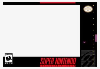 Snes Box Art Png Super Nintendo Cover Template