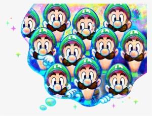 Luigi Dream Bubble Art Mario And Luigi Dream Team Png Image