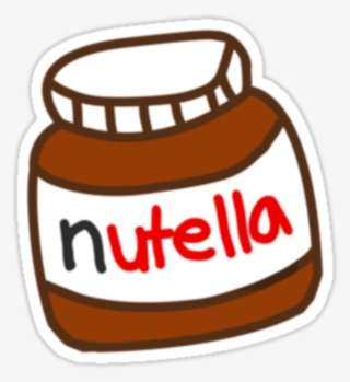 Cute Tumblr Nutella Pattern Nutella Tumblr Stickers Png Image Transparent Png Free Download On Seekpng