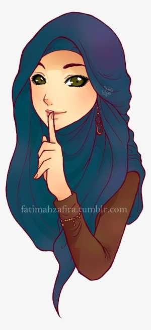 Hijab Muhajabbah Muslimah Anime Manga Cartoon Draw A Cute Girl Wearing Hijab Png Image Transparent Png Free Download On Seekpng