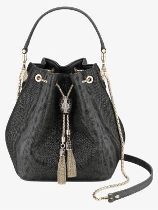 Serpenti Forever Bucket Bucket Karung Leather Black - Bvlgari Bucket Bag 92fcca5e4e97d