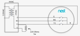 2 Wire Thermostat Wiring Diagram Heat Only from www.seekpng.com