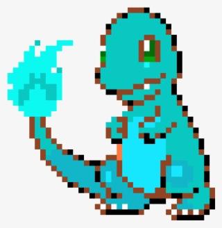 Blue Flame Charmander Pixel Art Pokemon Facile Png Image Transparent Png Free Download On Seekpng