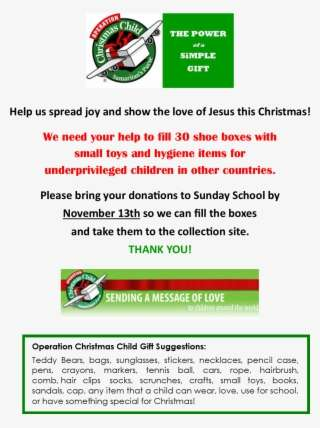Operation Christmas Child Png.Operation Christmas Child Png Images Png Cliparts Free