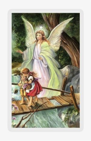 Guardian Angel On Bridge Prayer To The Guardian Angel Png Image