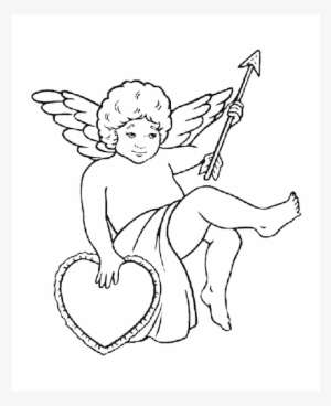 Cupid Silhouette Love Heart Drawing Silhouette Cupid Png Image