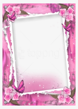 Free Png Beautiful Pink Transparent Frame With Roses Wedding Frames And Borders Png Image Transparent Png Free Download On Seekpng