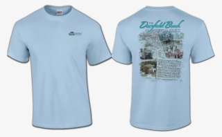 4070dc07 Deerfield Beach Historical Society - Light Blue Plain T Shirt Front And Back