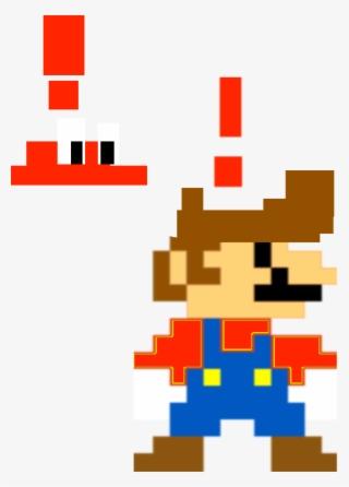 Mario Alerted Pixel Art Super Mario Bros Png Image